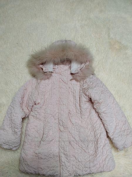 Теплая куртка зима 116см