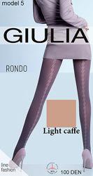 Плотные матовые колготки с узором Rondo 100 Giulia