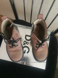 Брендовые демисезонные ботинки Dolce gabbana D&G junior оригинал