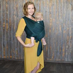 Зелёный бархат Не кенгуру, не рюкзак Нежные слинги, безопасно для младенцев