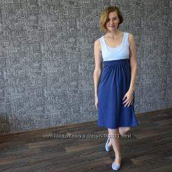 Летнее платье для беременности и кормления. Три нежных расцветки