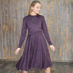 Длинные, мягкие и тёплые платья с секретом для ГВ. 4 цвета.