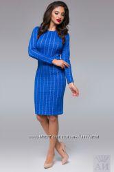 Стильное, новое платье василькового цвета