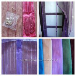 Сетка - штора антимоскитная на дверь на магнитах с дополнительными магнитам