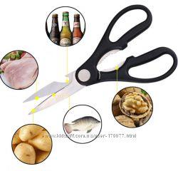 Кухонные ножницы, орехокол, открывашка бутылок 3 в 1