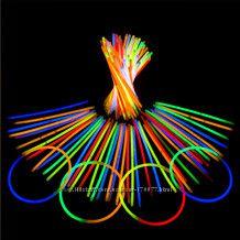 Светящиеся неоновые палочки браслеты трубочки 100 шт Glow stick