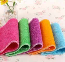 Бамбуковая салфетка- для мытья посуды без моющего средства