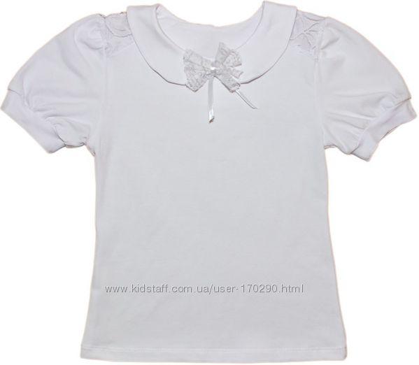 Школьная блузка с воротничком, размер 122-146.