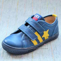 Кожаные кеды-кроссовки для мальчиков Minimen 31-36