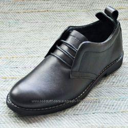 Кожаные туфли на подростка Украина р 36-39