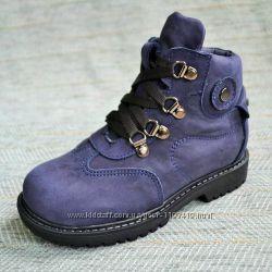 Зимние ботиночки на мальчика, нубук Украина р 26-31