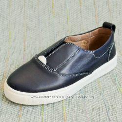 Кожаные туфли-слипоны Украина р 34 35