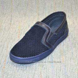 Туфли на мальчика с перфорацией, размер 31-39