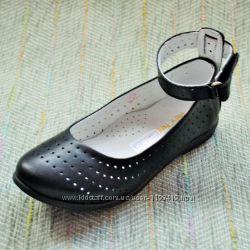 Кожаные туфли c перфорацией Palaris р 30-35