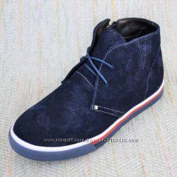 Демисезонные замшевые ботинки, Украина р 33-36