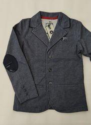 Трикотажный пиджак на мальчиков 134, 140, 146, 152, 158, 164 роста
