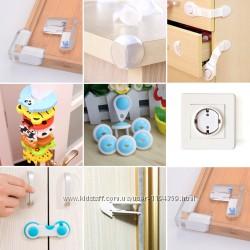 Детская безопасность на комоды, шкаф-купе, углы столов, дверей, розеток