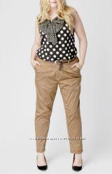 Бежевые брюки чинос большого размера