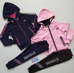 Спортивный костюм для девочки на флисе в двух цветах 116 - 146