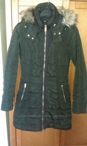 Пальто пуховик H&M длинная куртка HM размер S 34 - 36 укр 42