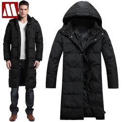 Мужская длинная зимняя куртка пуховик на высокий рост,  силикон. ХС-10ХХЛ
