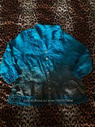 блуза накат бирюза Италия бохо Elisa Cavaletti