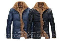Кожаная мужская куртка демисезон