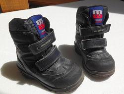 Minimen. Зимние ботинки, сапоги на липучках, 14, 5 см стелька, 22 размер.