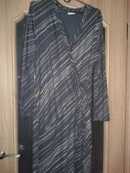 Красивенное платье в серебряную полоску XL