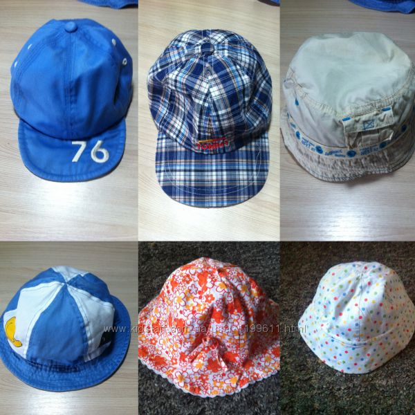 Панамки, кепки, бандана от 6 месяцев