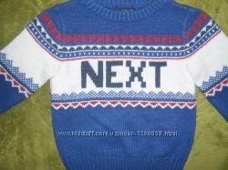Шикарный теплый свитерок Next на 12-18мес. р. 86