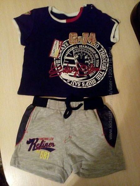 Комплект летний, шорты и футболка