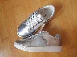 Мокасины кеды туфли Beeko серебро