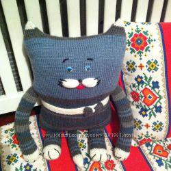 Игрушка-подушка Кот-Полосатик ручной работы прекрасный подарок