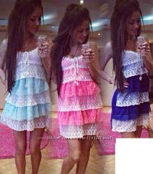 Модное легкое летнее свободное платье сарафан