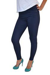 Удобные женские джеггинсы из джинса в расцветках больших размеров