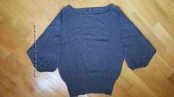 Красивый серый свитер с кашемиром F&F M-L