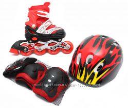 Новые Комплекты Раздвижных роликов - Защита, шлем, ролики, доп тулка