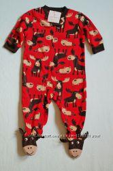 Carters флисовые пижамы, человечки, слипы, человечек. Картерс Опт