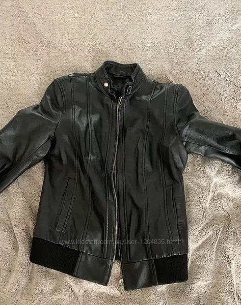 Куртка кожаная женская Италия, размер XS