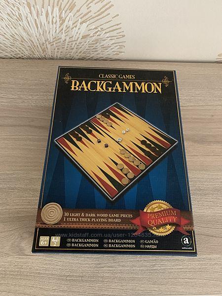Настольная игра классические короткие нарды Backgammon