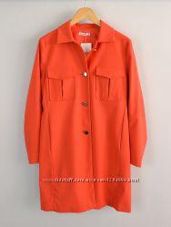 Новое женское весеннее пальто жакет пиджак блайзер красный на пуговицах str