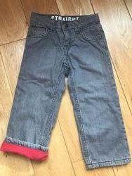 Тёплые джинсы на флисе для мальчика, р-р 86-92 см, 1,5-2 года