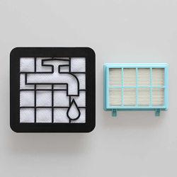 Комплект фильтр для пылесоса Philips PowerPro Compact FC9350 фільтр нера