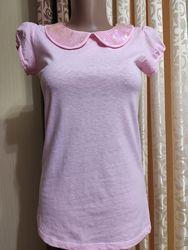 Футболка, футболка нарядная, футболка розовая
