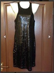 новое вечернее мини платье в пайетках Bershka