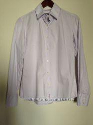 нежно-сиреневая строгая рубашка Barbour