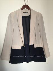 Воздушный шифоновый двухцветный пиджак