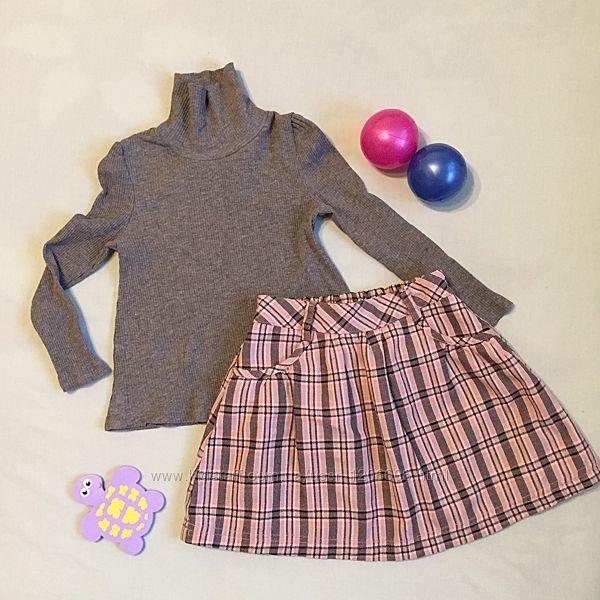 Комплект костюм тёплый гольф и юбка