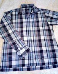 Брендовая мужская рубашка, клетка.